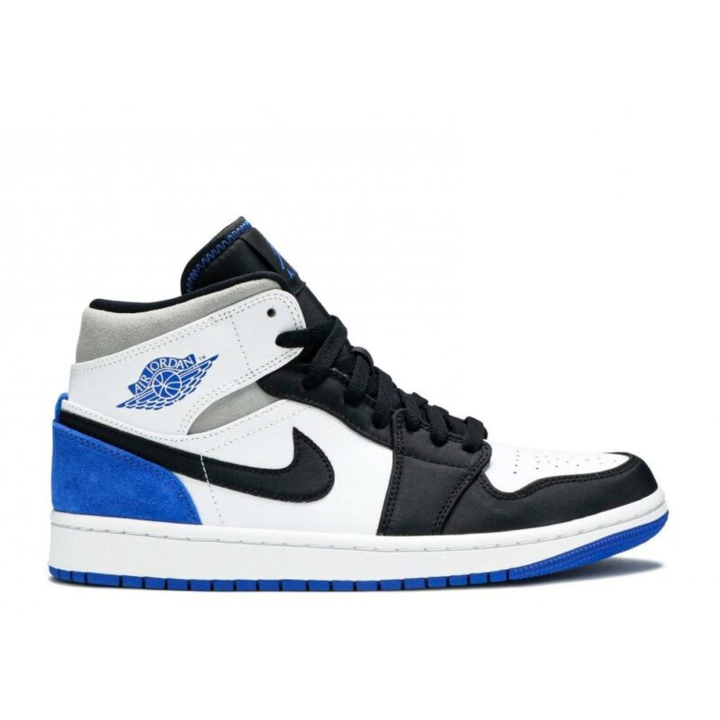 """Air Jordan 1 Mid """"Game Royal Black Toe"""""""
