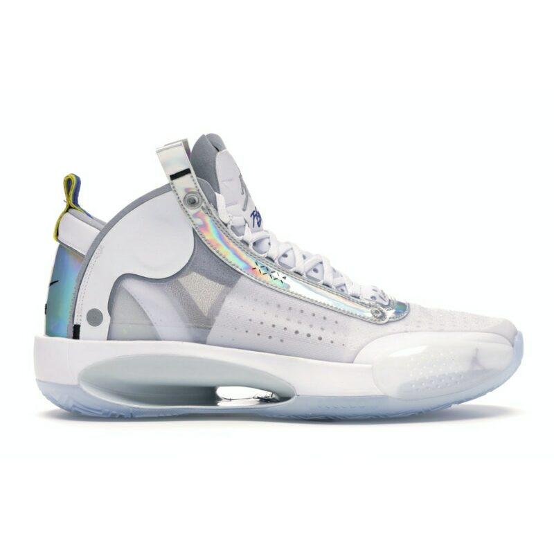 Air Jordan XXXIV White Metallic Silver